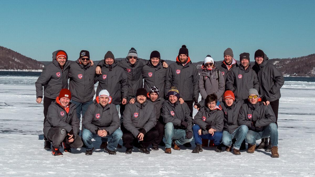 Celý tým na Bajkalu