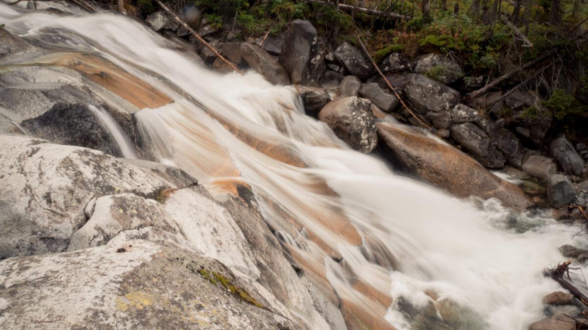 První vodopád cestou nahoru