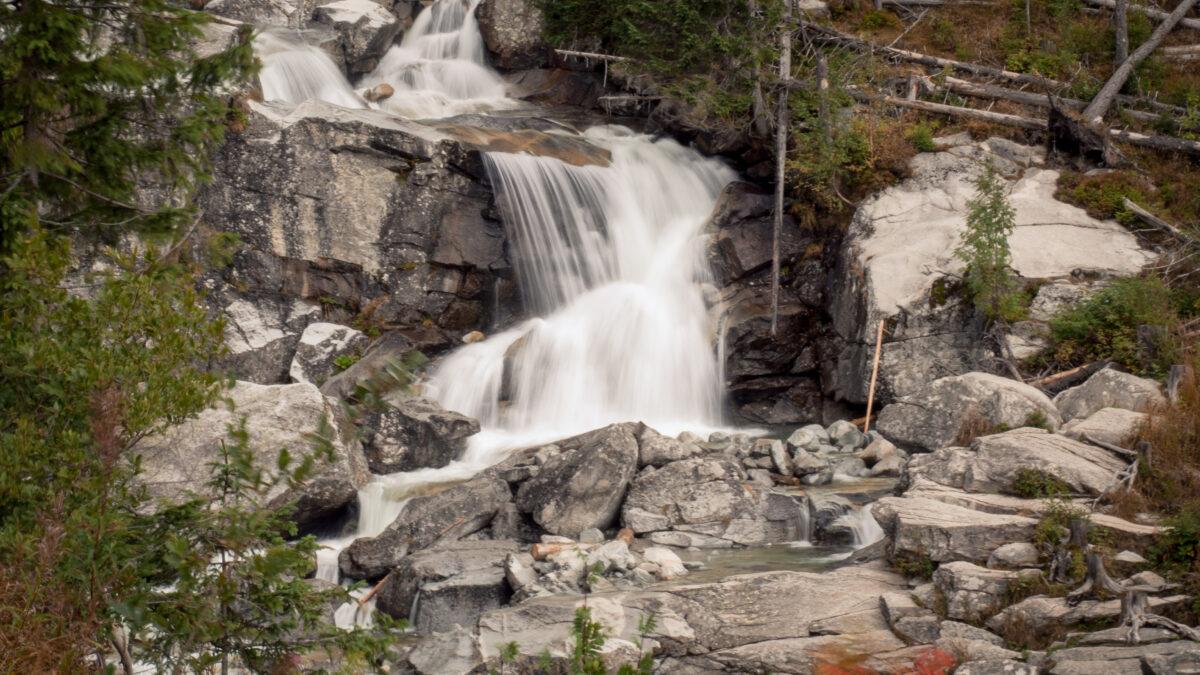 Druhý vodopád cestou nahoru