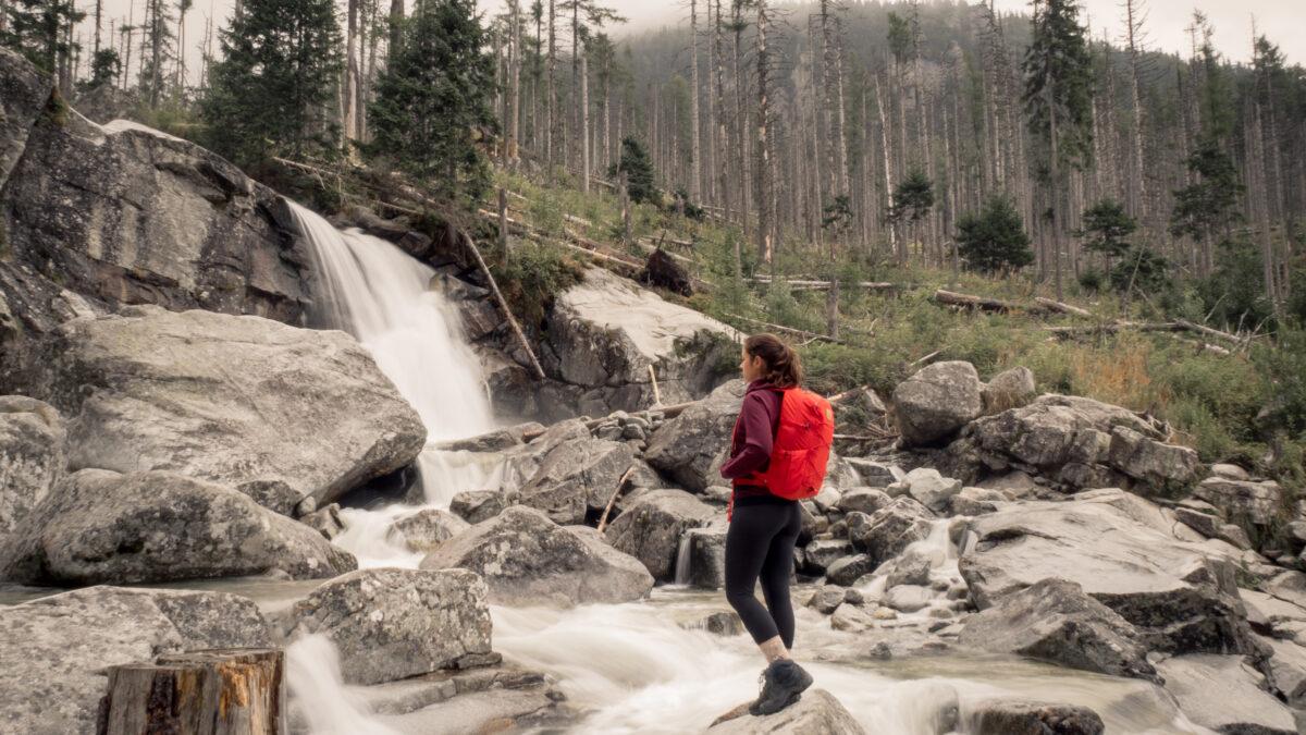 Třetí vodopád cestou nahoru