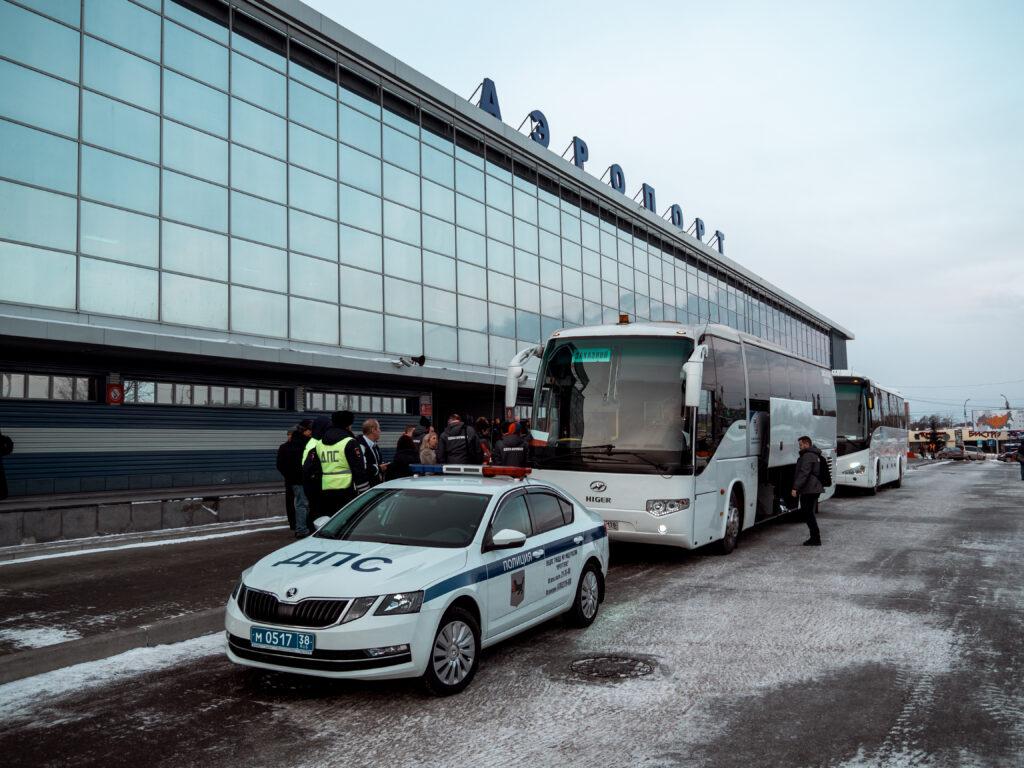Odvoz přichystaný na letišti v Irkutsku